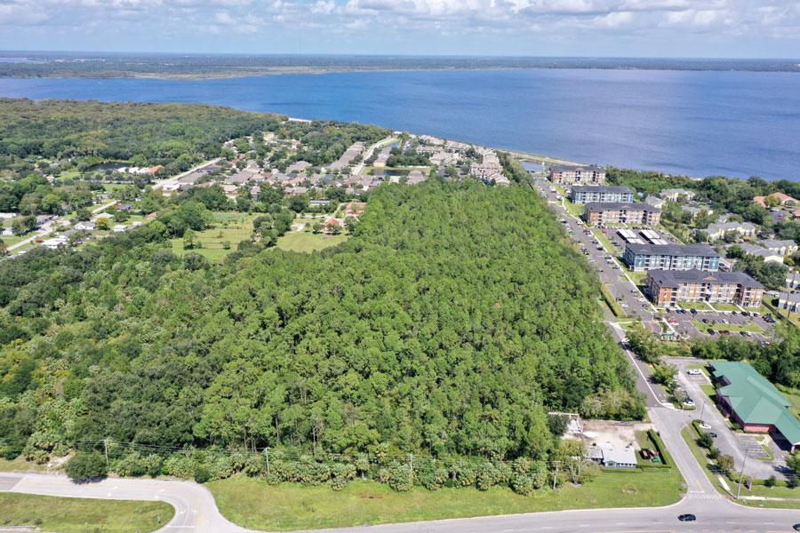 Birdseye view Lake Monroe Shores Property