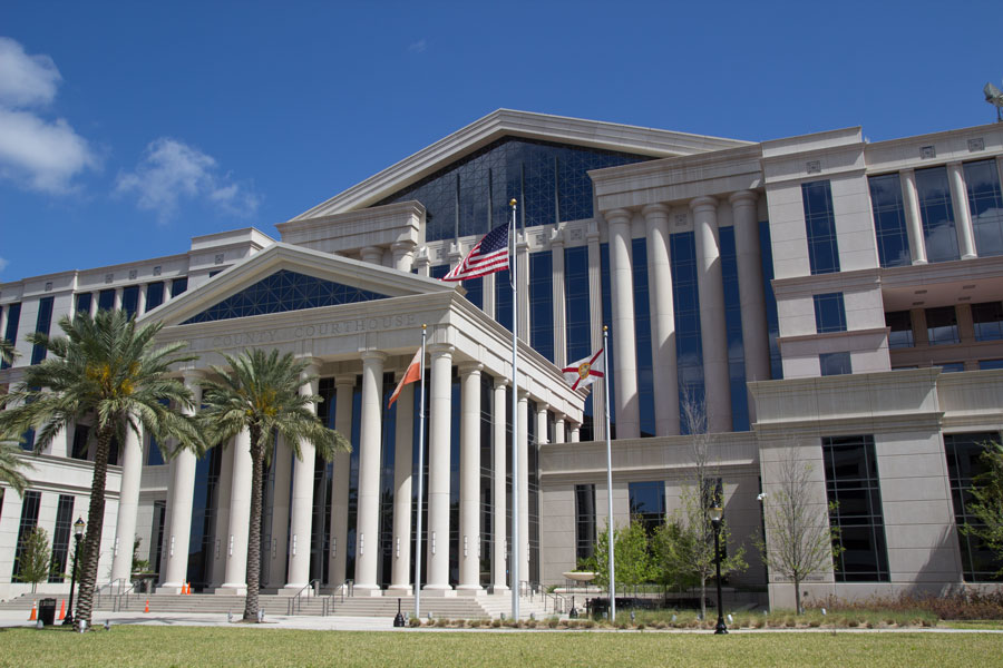 The Duval County Courthouse in nearby Jacksonville. Construction for the new courthouse began in 2009 and was completed in 2012.