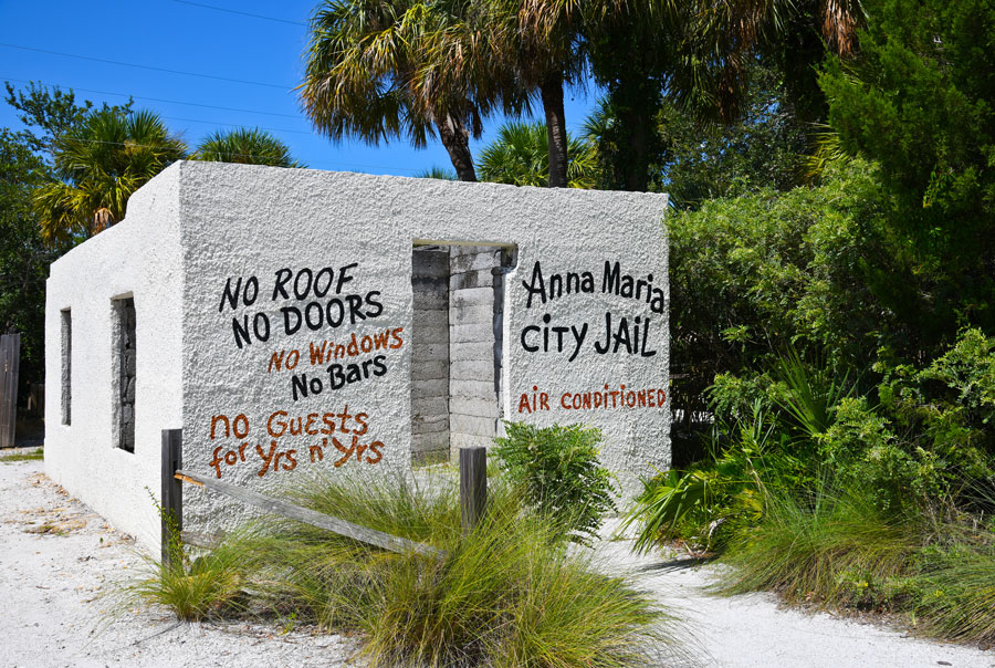 Old Anna Maria City Jail Building on Anna Maria Island, Florida. September 18, 2019. Editorial credit: Mark Winfrey / Shutterstock.com, licensed.