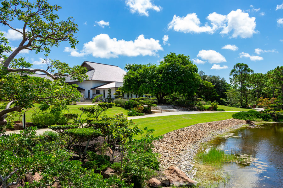 The Morikami Japanese Gardens, Delray Beach, Florida, August 7, 2018. Editorial credit: Holly Guerrio / Shutterstock.com, licensed.