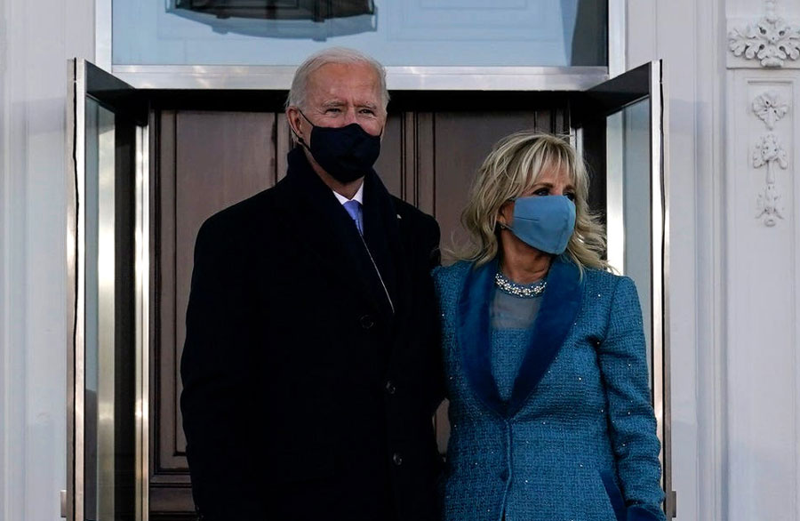 President Joe Biden and first lady Jill Biden at the U.S. Capitol for the inauguration ceremony. Washington, Jan.20, 2021. Editorial credit: mccv / Shutterstock.com, licensed.