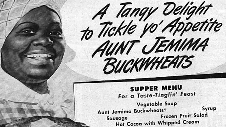 The Aunt Jemima pancake mix was advertised in 1889 as the first ready-mix. By 1915 Aunt Jemima became one of the most recognized brands in US history.