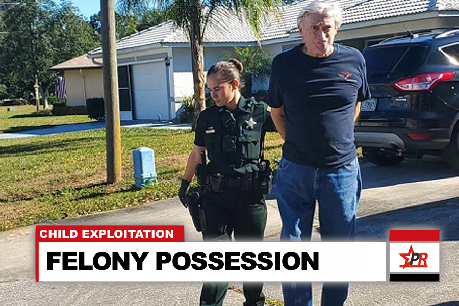 Edgar Alloway, 77, of Palm Coast, was arrested at his Palm Coast home and taken into custody. He was booked into the Sheriff Perry Hall Inmate Detention Facility and released after posting a $120,000.00 bond.