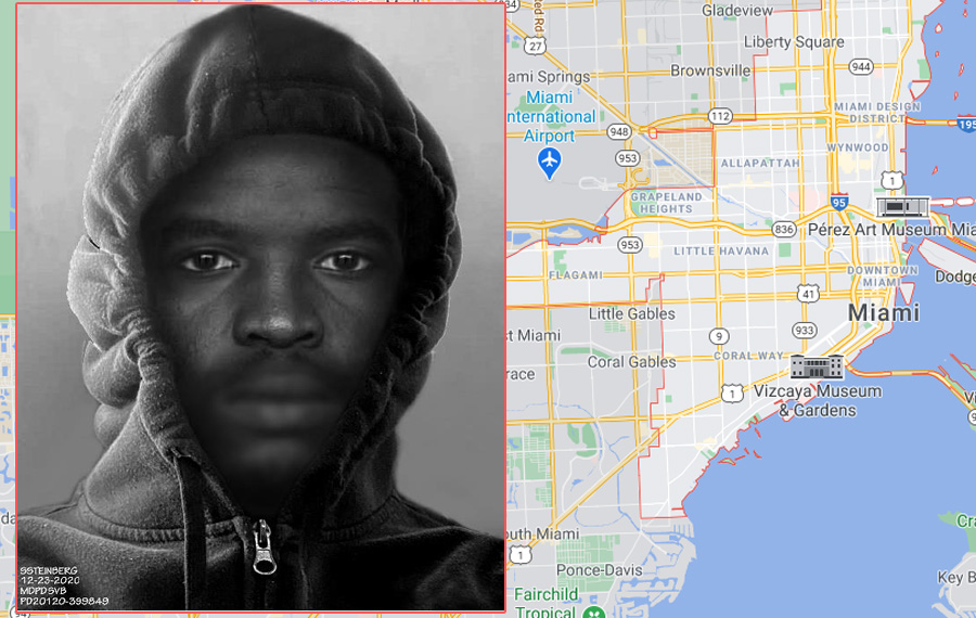 Miami Police Release Composite Sketch of Unknown Black Male Wanted by for Special Victims Bureau for Attempted Sexual Assault