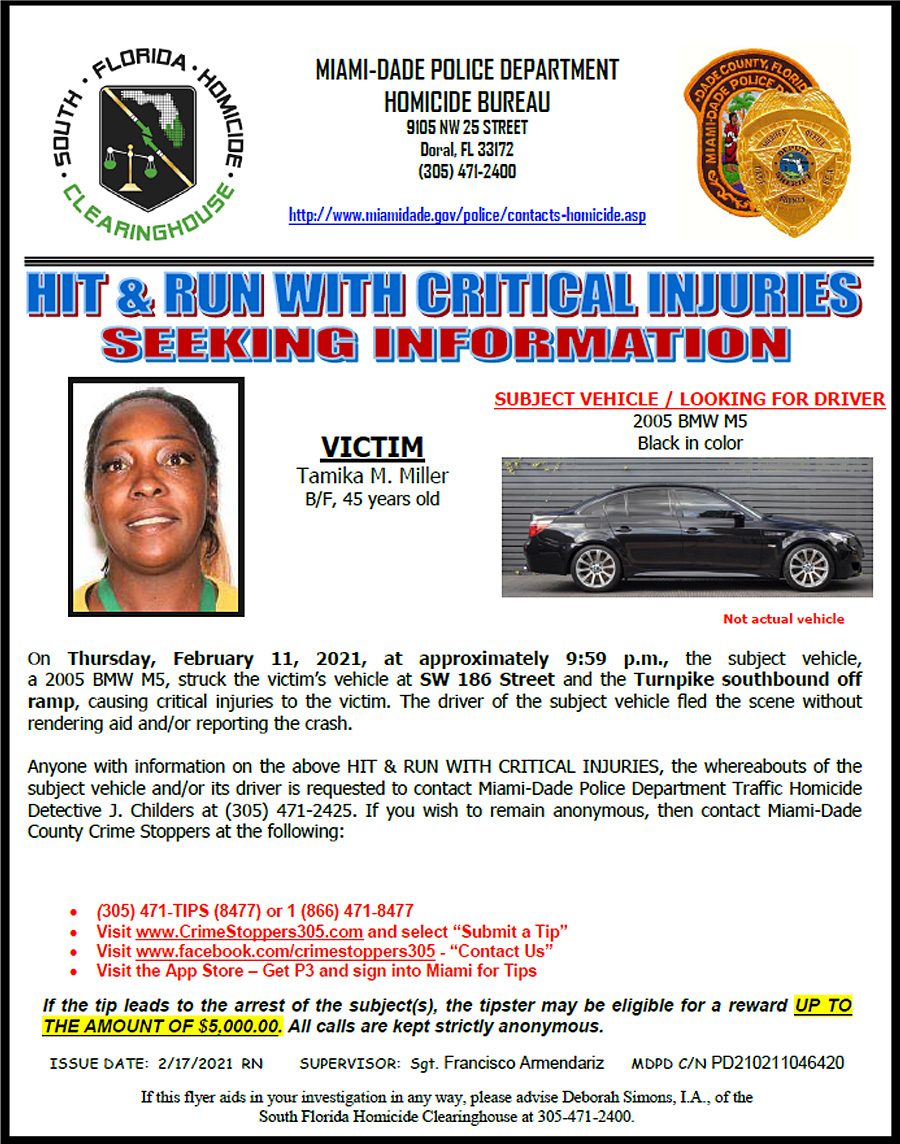 Black BMW Involved In Hit and Run
