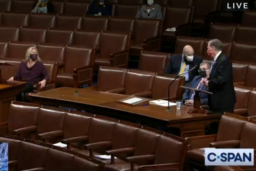 The House Committee on Rules held a hearing on Feb. 3 on whether to remove Rep. Marjorie Taylor Greene (R-Ga.) from her committees. Greene had faced criticism for past remarks including those embracing the QAnon conspiracy theory. Photo credit: C-SPAN.