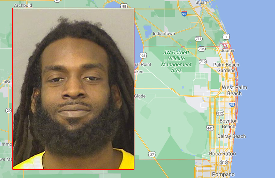 Guerby Saint Cyr, 25, of Greenacres, was arrested and transported to the Palm Beach County Jail where he is currently being booked for theft by deception; second degree felony in Utah and two counts of communications fraud; also second degree felonies in Utah.