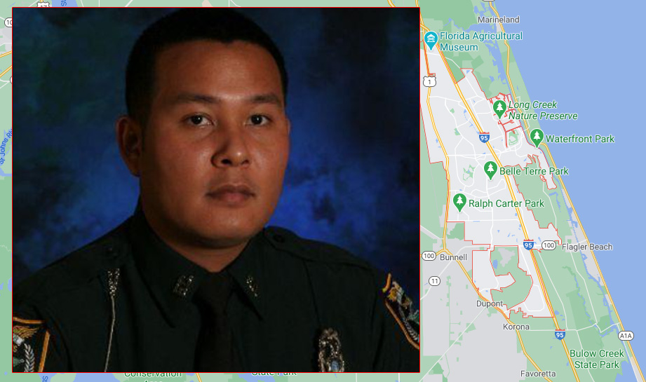 Detective Mark Moy when he was named officer of the year in Flagler, May, 2014.