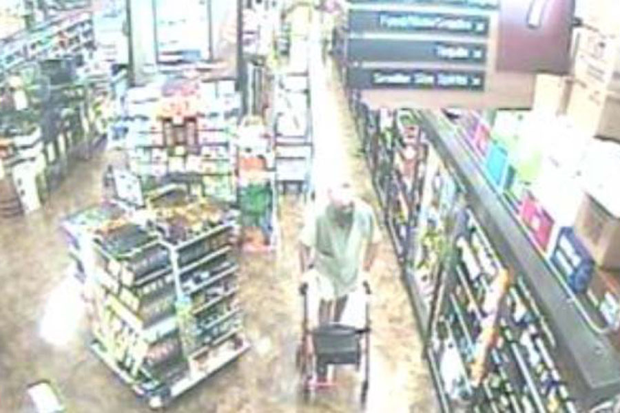 According to authorities, the elderly male shown entered Total Wine, selected a bottle of alcohol, removed it from the box and concealed it, then excited the store. This incident occurred yesterday, Tuesday, February 23, 2021. The Total Wine is located in the 900 block of South State Road 7 in the Village of Wellington.