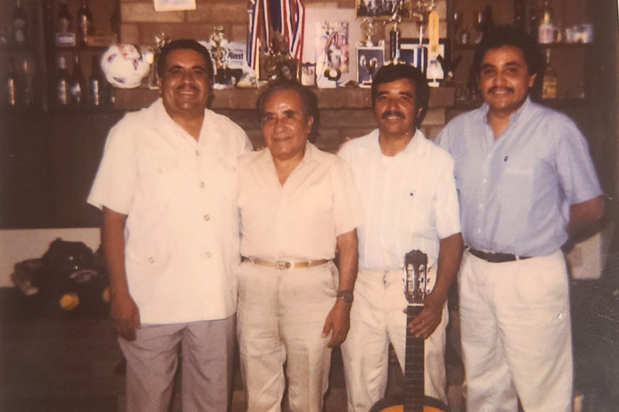 The Aldaco family of Phoenix suffered more than most in this year of unfathomable losses. Three brothers perished in the pandemic: Jose in July, Heriberto Jr. in December and Gonzalo in February. In this undated photo, Jose (left), Gonzalo (second from right) and Heriberto Jr. (right) stand with their father, Heriberto Aldaco Sr.