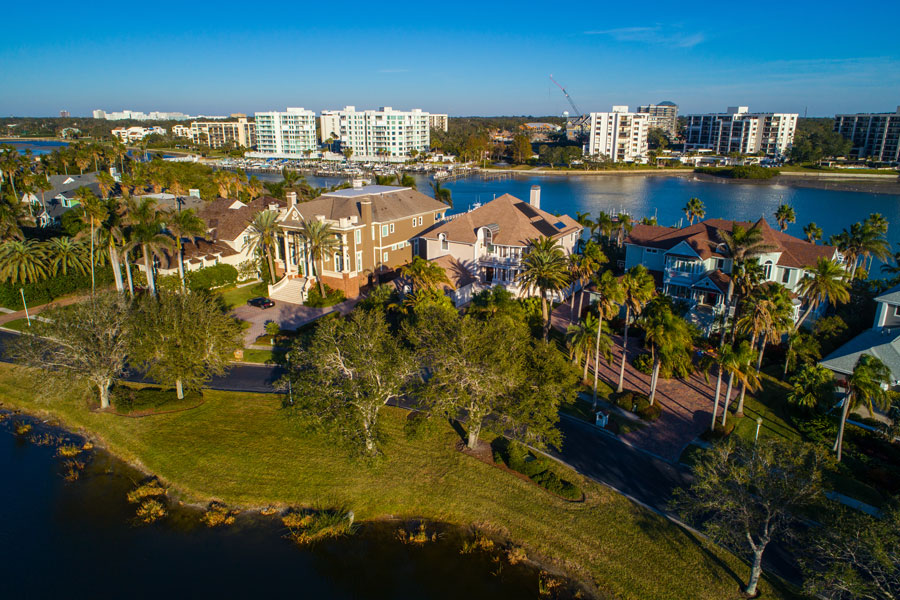 Aerial image of luxury homes neighborhood Belleview Florida. Photo credit ShutterStock.com, licensed.