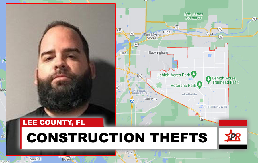 Elvis Fonseca Lara, 34, was charged with six counts of grand theft, two counts of unoccupied burglary, and one count of unoccupied burglary to a structure. t. As detectives continue to follow leads and investigate 20 water system thefts in the East district, Lara may face additional charges.