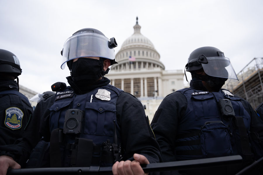 "The alleged threat to the Capitol is being taken ""seriously"" Capitol Police said in a statement posted on their official website. Editorial credit: Julian Leshay / Shutterstock.com, licensed."