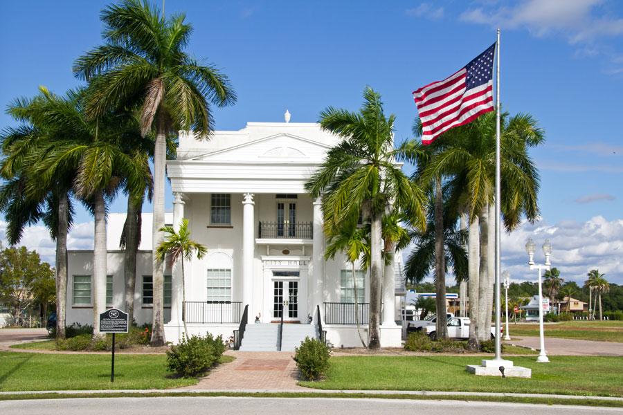 City Hall in Everglades City, Florida.
