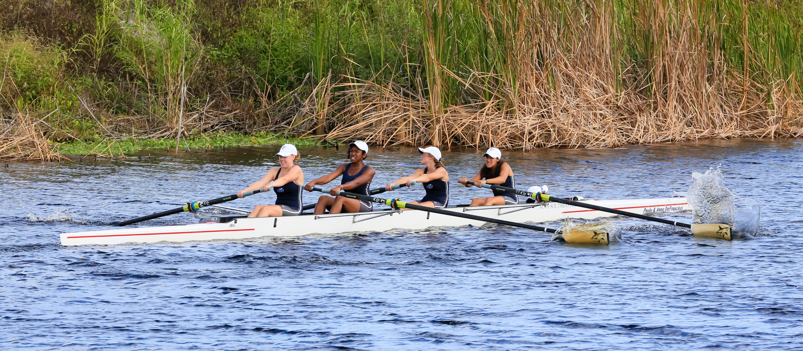Collegiate rowing competition on Nov 11, 2013 in Fellsmere, Florida. Photo credit: Leonard Jerry Horsford / ShutterStock.com, licensed.