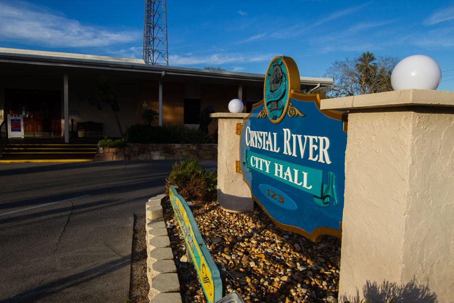 Crystal River city hall Crystal River, Florida on December 28, 2020. Photo credit: Paulo Almeida Photography / Shutterstock.com, licensed.