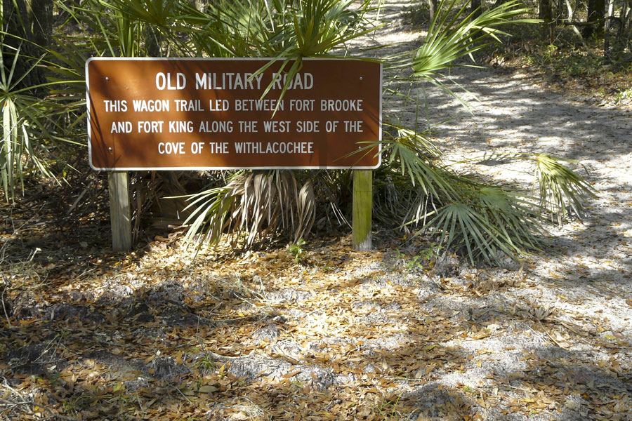 An old wagon trail between Fort Brooke and Fort King in Fort Cooper State Park, Inverness, Florida, was significant in the Second Seminole War. Photo credit ShutterStock.com, licensed.