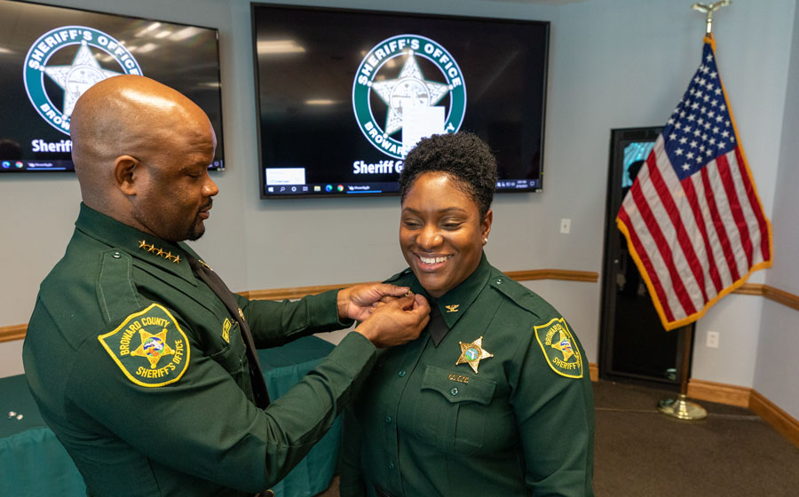 Josefa Benjamin, who was also promoted to colonel, is the first Black woman to serve as executive director overseeing Broward Sheriff's Office's Department of Detention and Community Programs.