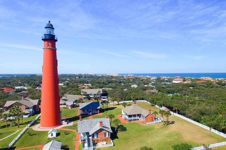 Ponce de Leon Lighthouse, just north of Cape Canaveral, Florida.