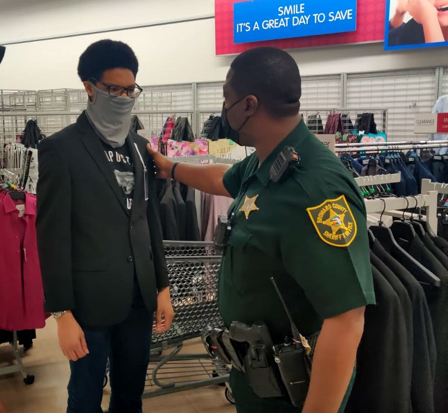 Newly-trained students were then outfitted and provided with appropriate interview-style clothing from Burlington Coat Factory using funds donated from community members.