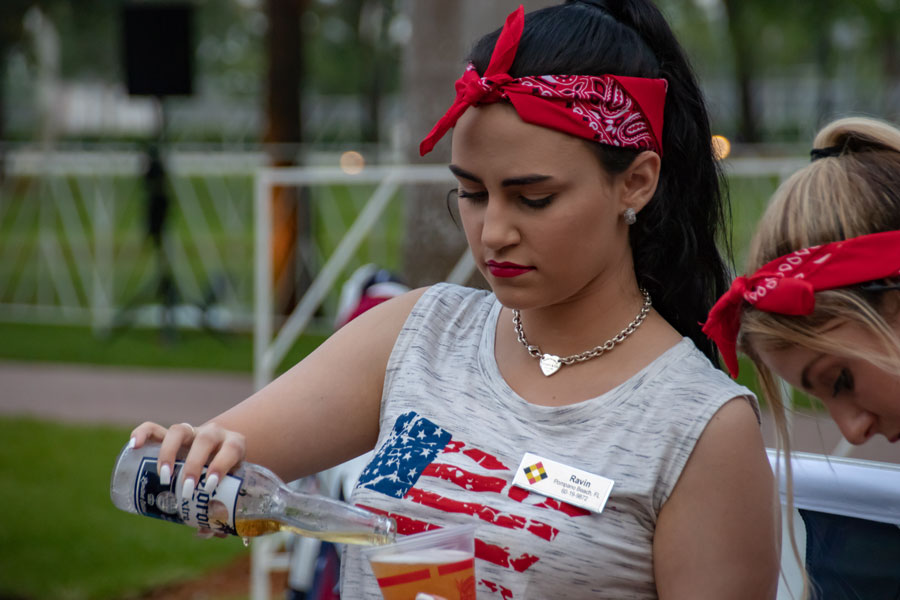 Celebrating July 4 Independence Day in Seminole Casino Coconut Creek.  Editorial credit: YES Market Media / Shutterstock.com, licensed.