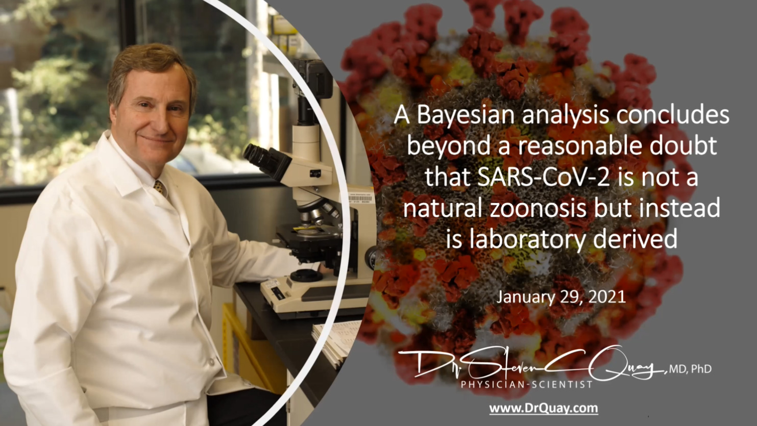 SARS-CoV-2 Bayesian Analysis by Steven Carl Quay MD Phd