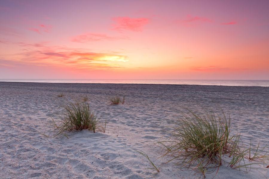 A beautiful Sunset over Florida's coastline in Fernandina Beach, Florida.