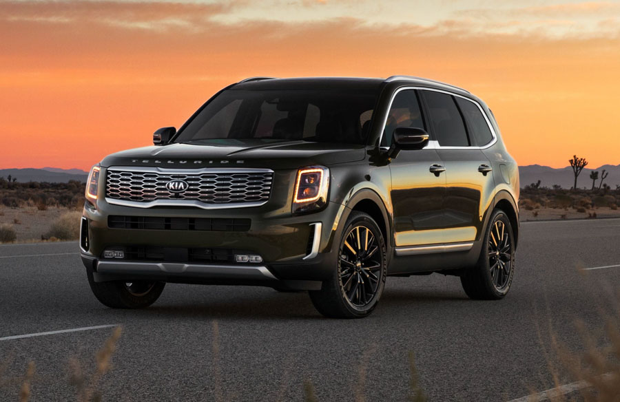 Telluride (above), Sorento, Soul, K5 and Rio all named 2021 Editors' Choice Award winners, selected from more than 400 models tested. Kia once again captures new accolades for performance and value across the lineup.