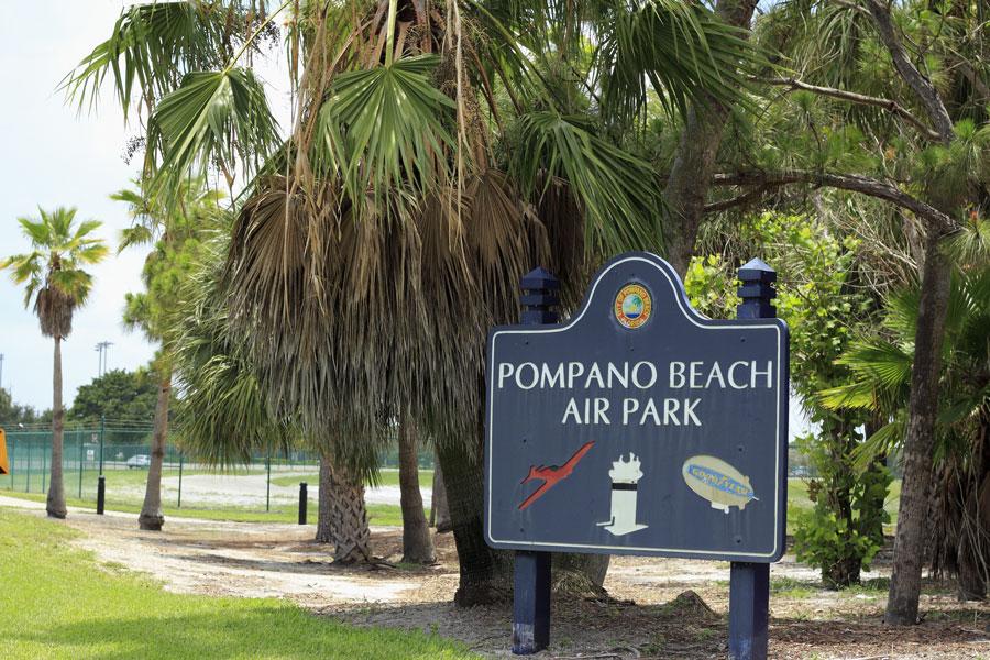 Pompano Beach Air Park with City Of Pompano Beach, Florida sign.