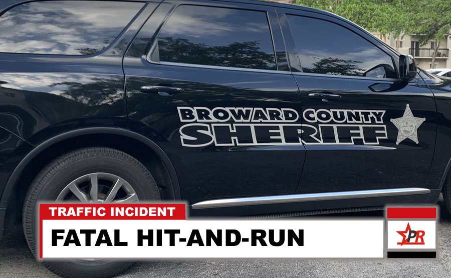 Terri A. Tayce, 56, of Fort Lauderdale, was crossing the roadway northbound when she unexpectedly entered the path of the Durango and was struck. Tayce was transported to Broward Health Medical Center where she later died.  The investigation into the crash is ongoing.