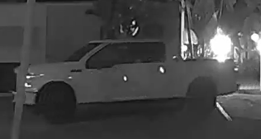 An investigation revealed that the suspect was seen driving a white newer model Ford pickup one day and customized golf cart. These incidents occurred between March 6, 2021 and March 13, 2021.