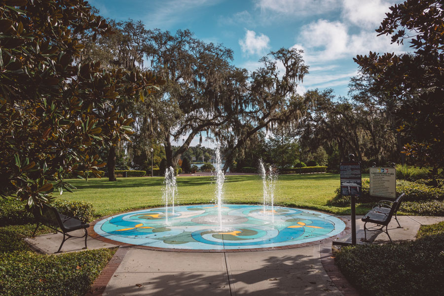 An interactive water play area in the city of Casselberry Florida. Photo credit ShutterStock.com, licensed.