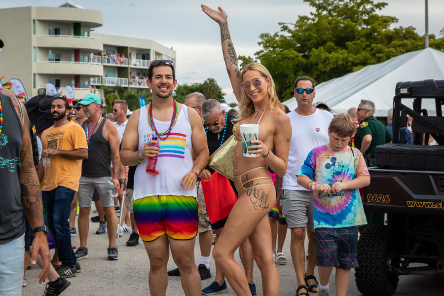 The Stonewall Pride Parade, one of Wilton Manors largest lesbian, gay, bi-sexual, and transgender (LGBT) events held yearly.