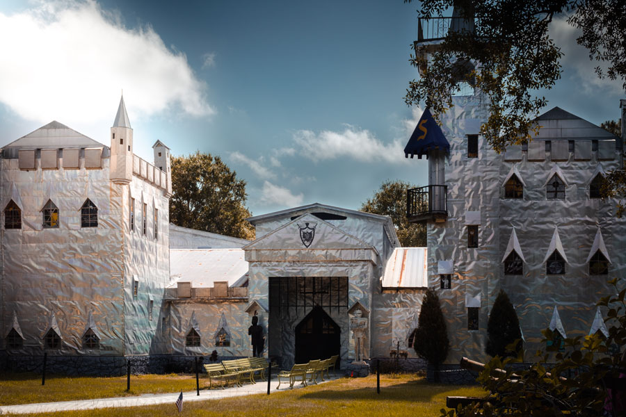 The artist himself gives tours of his aluminum castle and collection of art made from recycled items at Solomon's Castle in nearby Ona, Florida. May 25, 2019. Editorial credit: Luis Andres Ojeda Havas / Shutterstock.com