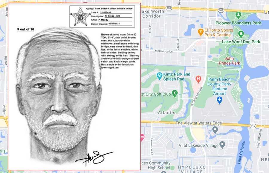 The suspect is described as being 5-10, thin build, brown eyes, balding white hair and bushy white eyebrows. He has a mole or birthmark on his lower jaw. Anyone with any information is asked to contact Crimes Stoppers at 1-800-458-TIPS.
