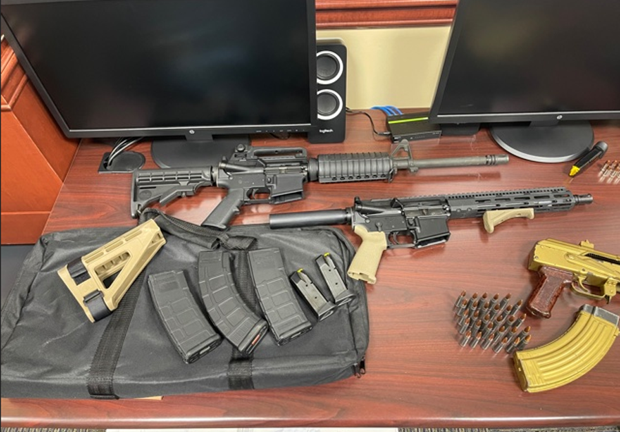 During the search, detectives arrested Johnson and confiscated more than $17,000 in cash, ammunition, four firearms, one stolen firearm out of Georgia as well as paperwork and electronic devices related to the ongoing fraud investigation.