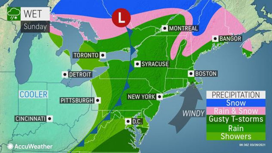 Severe weather may take a swipe at mid-Atlantic