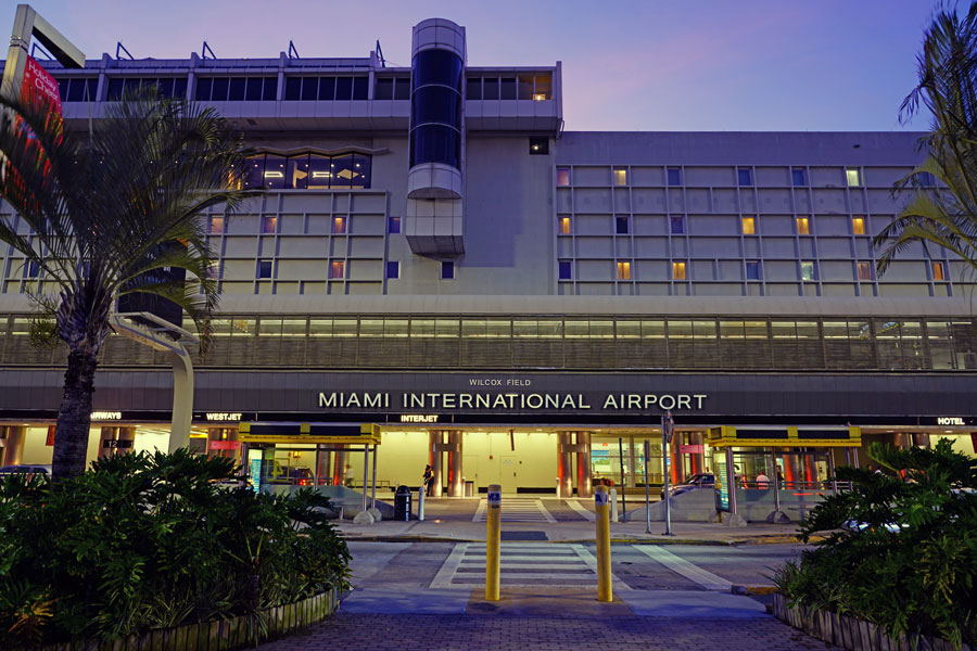 View of the Miami International Airport (MIA), formerly Wilcox Field, in Miami, FL, on January 3, 2019.
