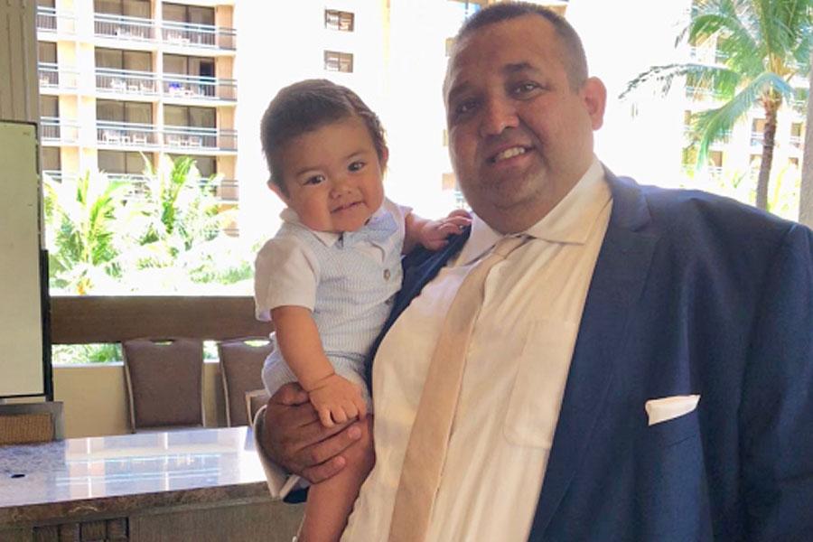 Antonio Espinoza with his son, Ezekiel