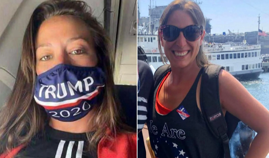 35-year-old Trump supporter Ashli Babbitt, who was unarmed, was shot and killed by a U.S. Capitol Police officer during the January 6 riots inside the Capitol Building.