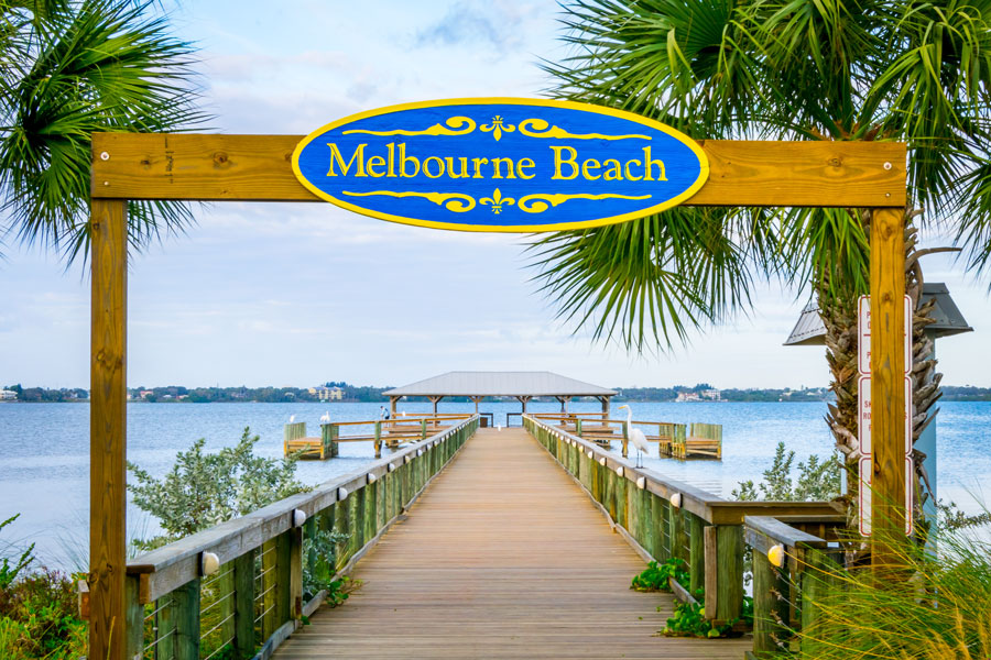 Historic Melbourne Beach Pier on the Indian River. Photo credit ShutterStock.com, licensed.