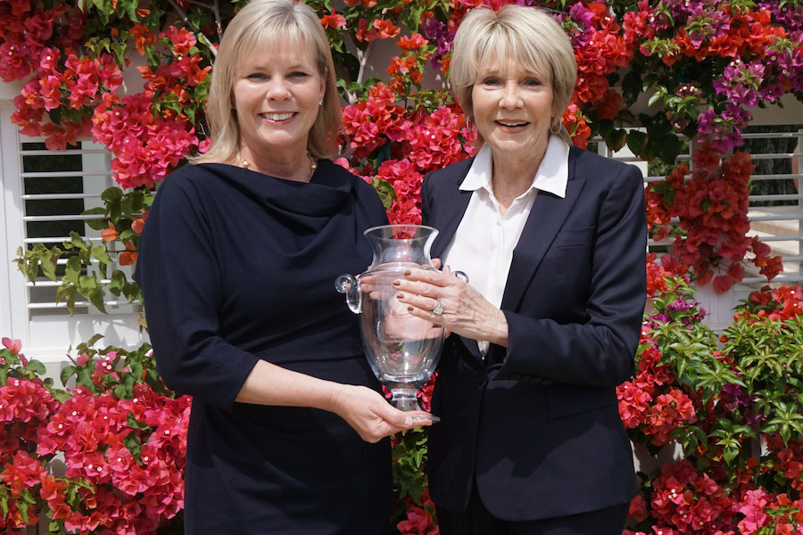 From left, President and CEO Christy Budnick and Founder and Chairman Linda H. Sherrer, Berkshire Hathaway HomeServices Florida Network Realty
