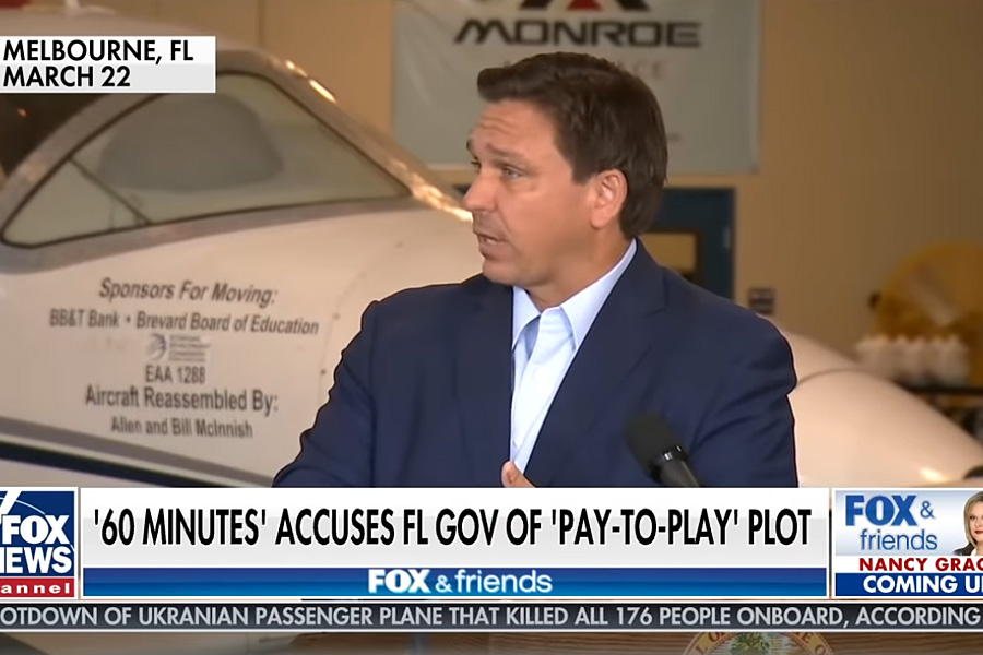 Florida Governor Ron DeSantis sounded off on Fox News against on 60 Minutes saying. A lot of Americans don't believe corporate media anymore for precisely this reason. they edited out all of the key facts. I gave a very detailed two minute response at the press conference. they edited out all of the facts. There's even more.