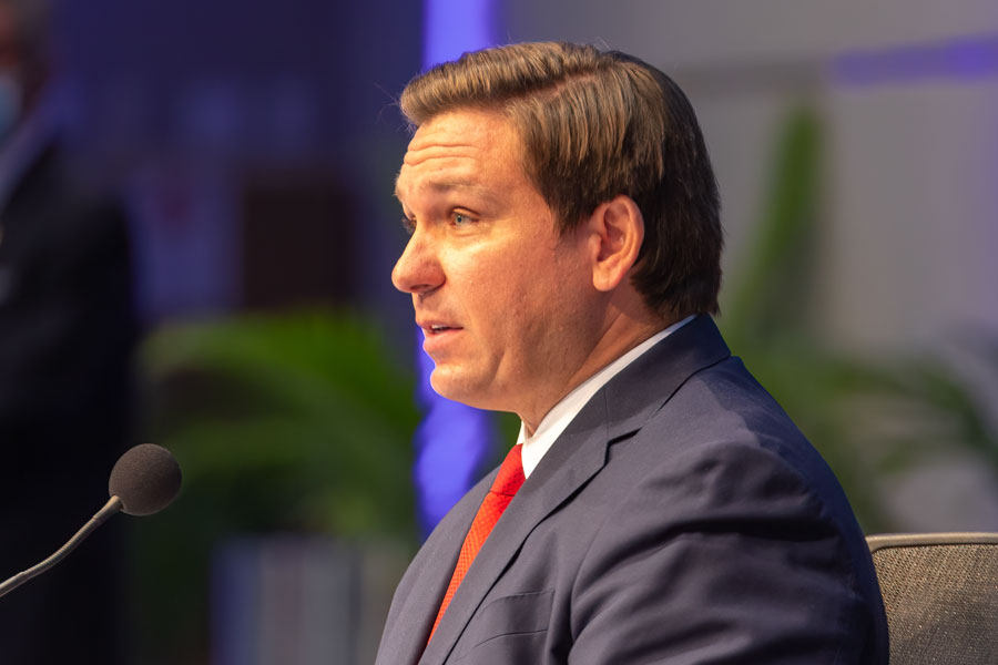 Governor Ron DeSantis has referred to cracking down on social media companies as one of his top legislative priorities. File photo: YES Market Media, Shutterstock.com, licensed.