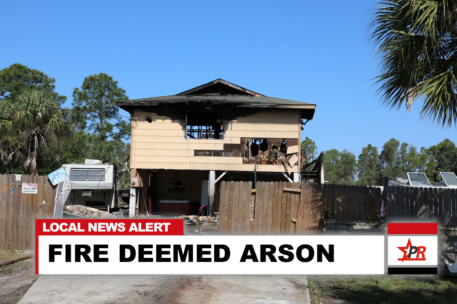 FIRE DEEMED ARSON