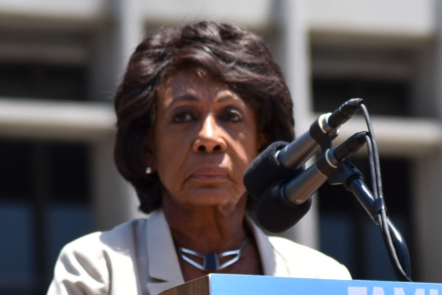 Maxine Water's is a prime example of someone the left is following right to the edge. The mainstream media ignores the fact that inciting violence seems to be a regular occurrence for Ms. Water's. File photo: Jose Ivan Cazares, Shutterstock.com, licensed.