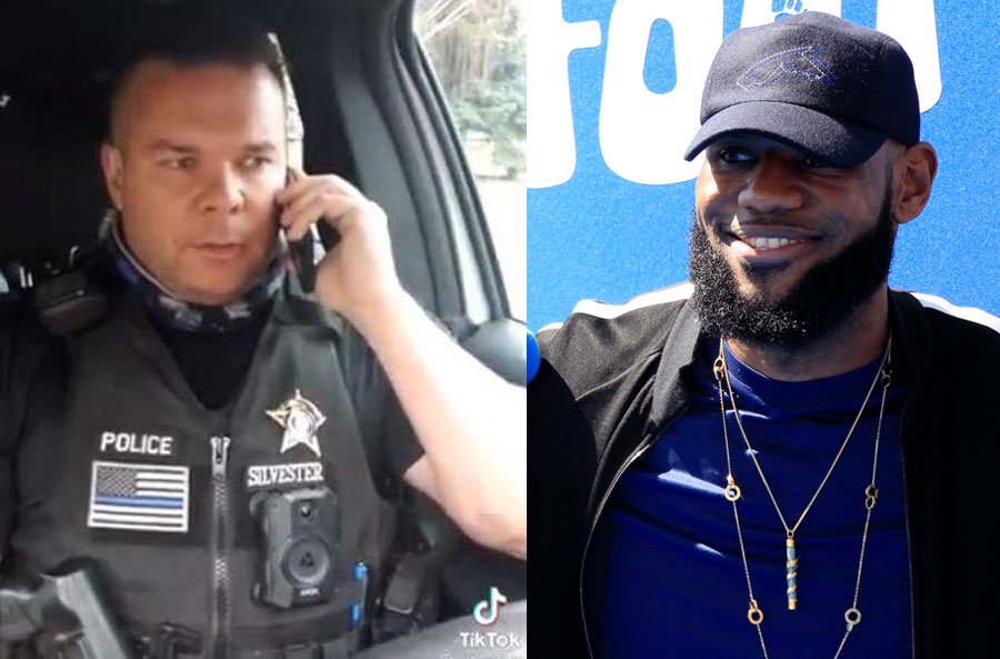 Idaho Officer Suspended Without Pay Over Viral TikTok Video Mocking LeBron James As Racist