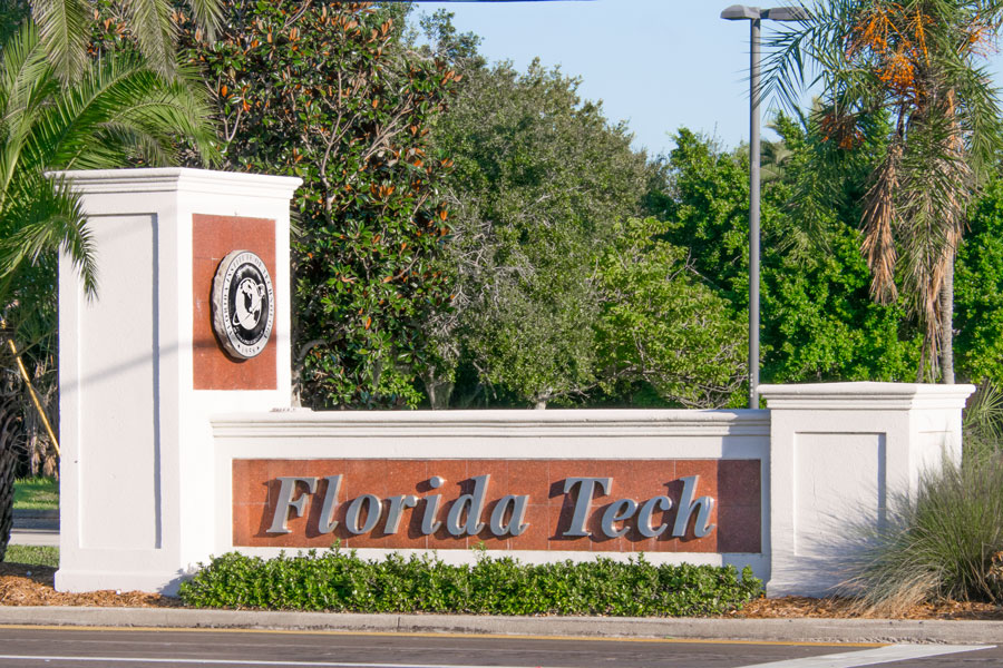 Founded in 1958 Florida Institute of Technology is located in Melbourne Florida. October 20, 2018. Photo credit: Thomas Kelley, Shutterstock.com, licensed.