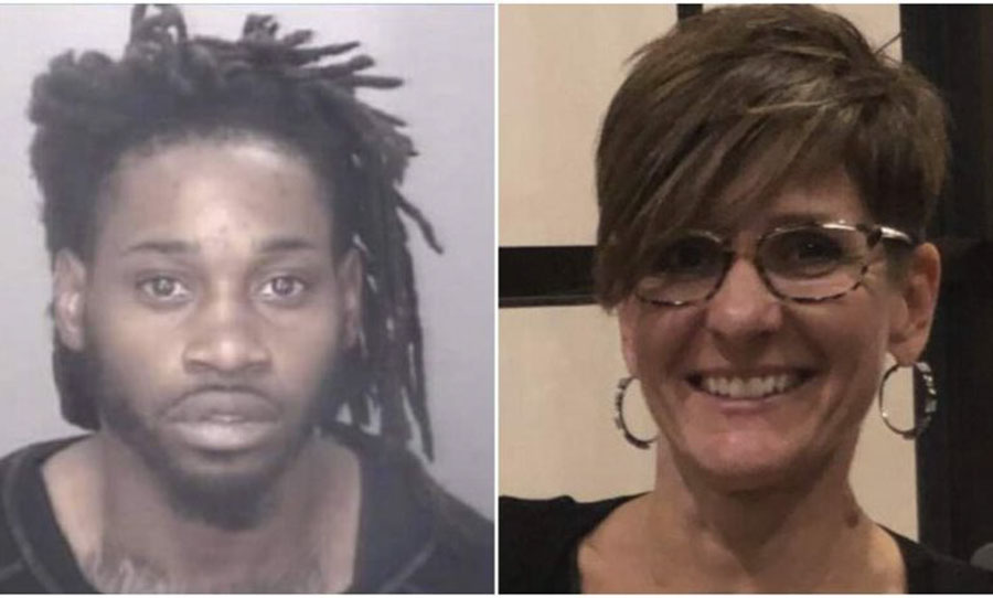 Dejywan Floyd, 29, of North Carolina is accused of brutally shooting and killing a mother of six, Julie Eberly, 47, in Lumberton, South Carolina, during a road rage incident on a Pennsylvania highway. Robeson County Sheriff's Office.