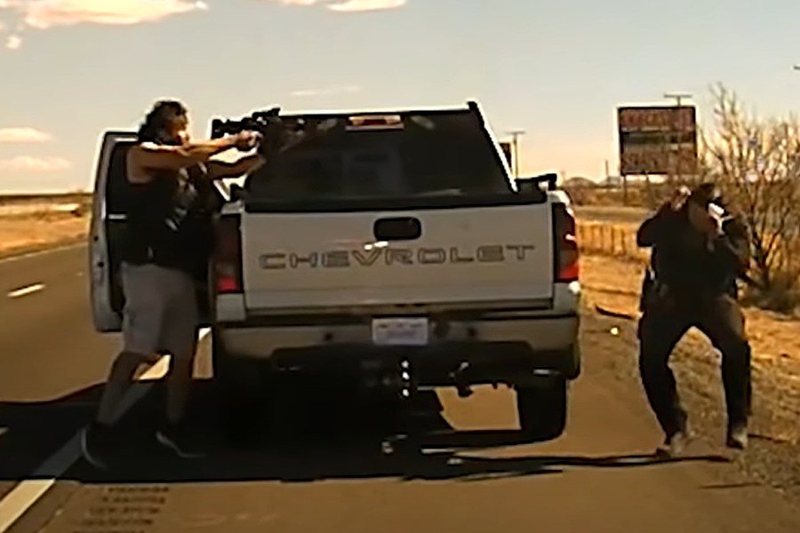 Shocking Dashcam Footage Released of Fatal Shooting of New Mexico Cop During Traffic Stop by AR-15 Toting Drug Dealer